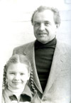 With daughter Polina in 1978