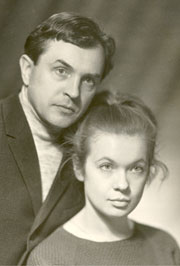 With wife Olga in 1966